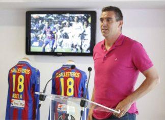 Sergio Martínez Ballesteros, el día de su despedida como jugador del Levante UD. Foto: levanteud.com