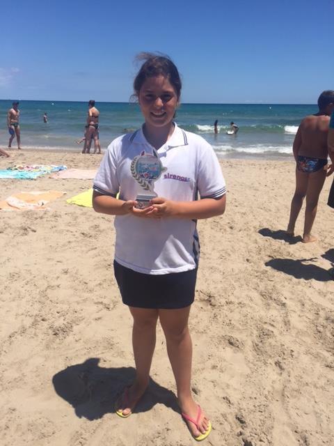 Celia Pérez, campeona de España de salvamento y socorrismo