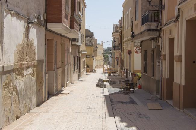 Les obres del carrer de la Penya de Picassent