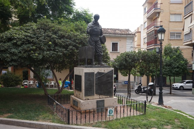 El 'Monumento al Tirador' se mantendrá descubierto por primera vez durante la Cordà de Paterna