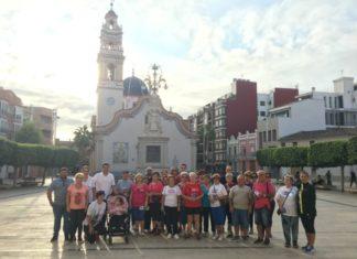 Alfafar en Ruta congregó a vecinos y vecinas en la plaça de l¡Ajuntament.