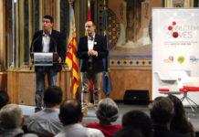 Jorge Rodríguez i el diputat de Projectes Europeus, Bartolomé Nofuentes