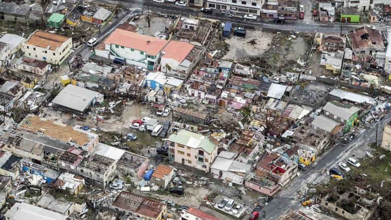 Así ha quedado la pequeña isla de San Martín tras el paso del huracán Irma