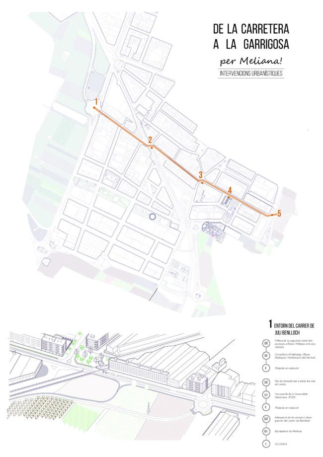 Meliana planifica diverses actuacions urbanístiques en l'eix oest-est del nucli