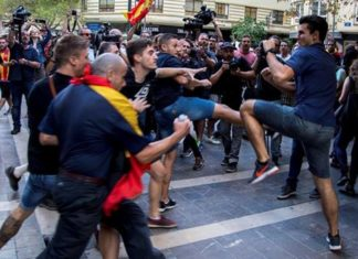 agresiones manifestacion 9 Octubre