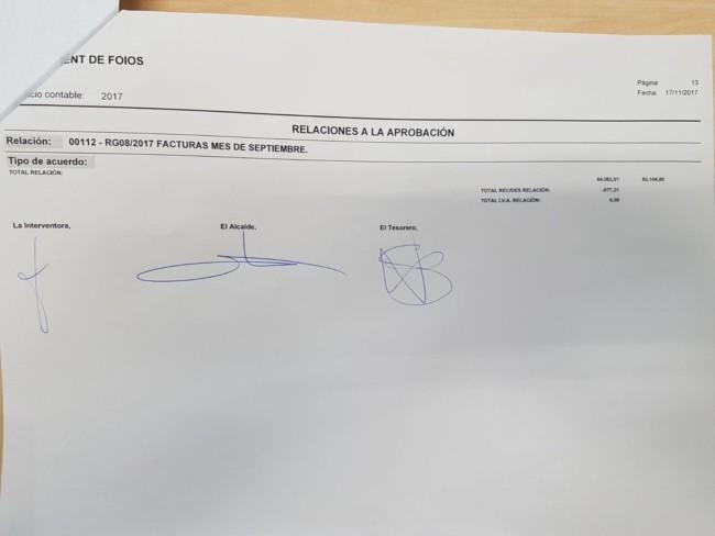pago facturas proveedores Foios