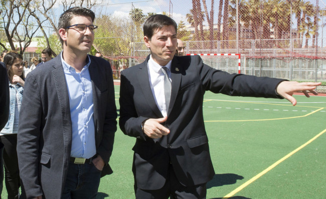 Jorge Rodriguez (Diputación de Valencia) y Jorge García (alcalde de Burjassot)