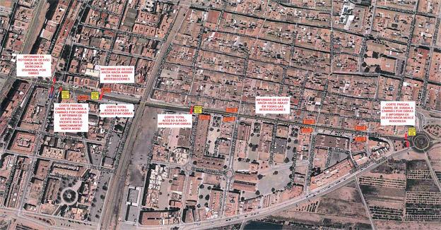 Las obras en el paso subterráneo del Caminás causarán desvíos