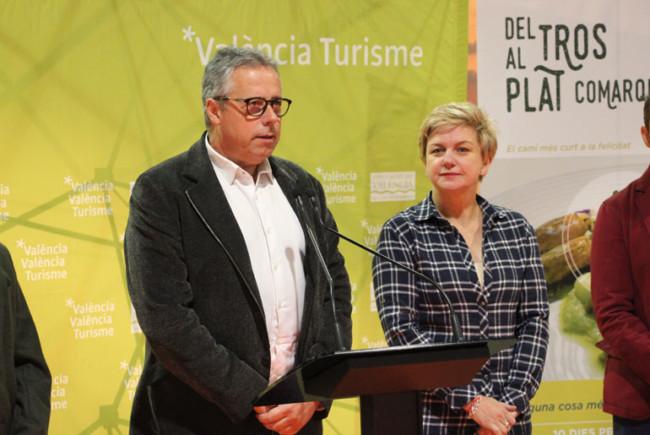 El director del Patronat de Turisme, Evarist Caselles, durante su intervención.