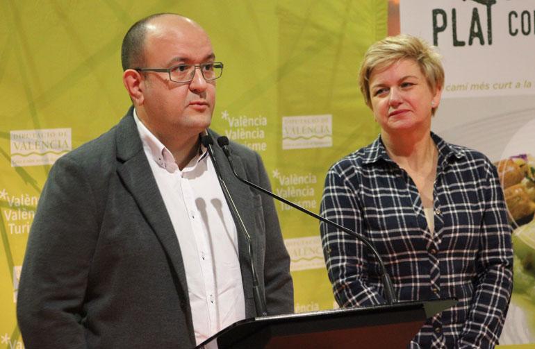 Los hermanos Prieto, de Sents Restaurant, también participaron en la presentación de la nueva edición de De Tros al Plat. Foto: Javier Furió
