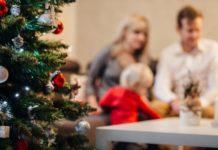 Navidad bebé familia