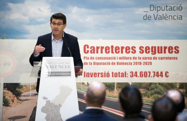 plan de conservación de carreteras de la Diputació de València.