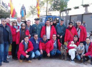 El Servicio cinologico de la Guardia Civil participa en la celebración de San Antonio Abad en Manises