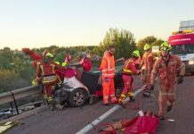 accidente tráfico A7 Paterna