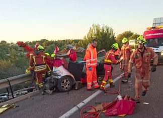 accidente tráfico A7 Paterna