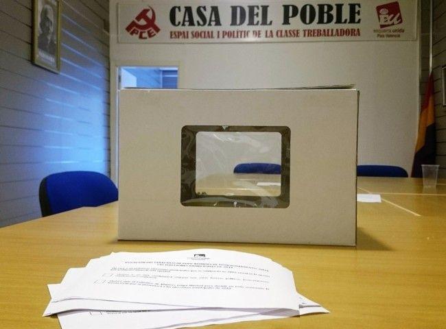 Votacion sede EUPV Manises