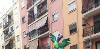 El viento hace caer la Falla de Miguel Hernández de Alaquàs