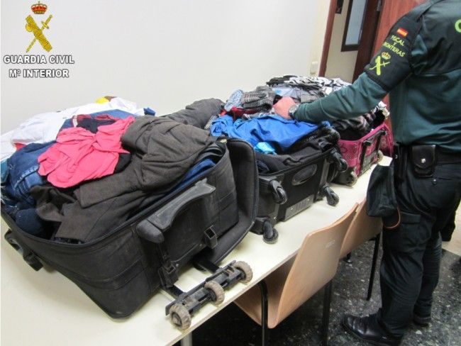 Guardia Civil ropa impregnada cocaína