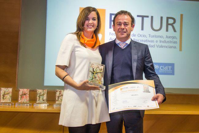Premios FOTUR 2017. Sandra Gómez y Enrique Velarte.