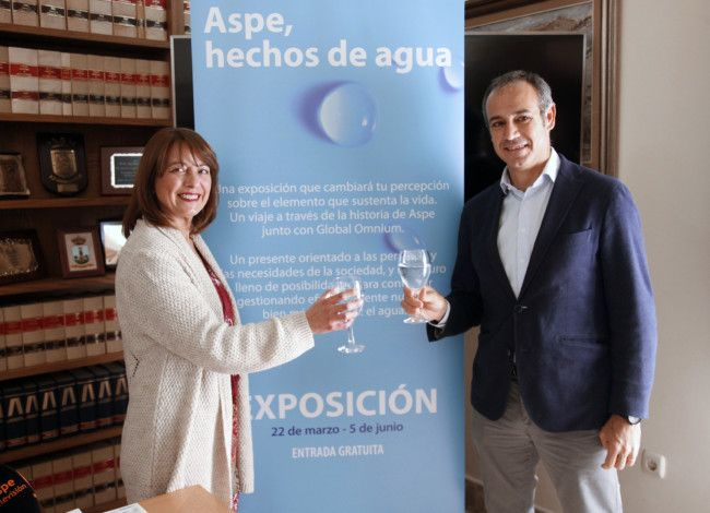 Global Omnium inaugura en Aspe la exposición 'HECHOS DE AGUA'