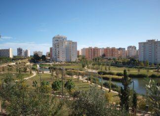 El parque urbano inundable la Marjal, ubicado en la playa de San Juan de Alicante,