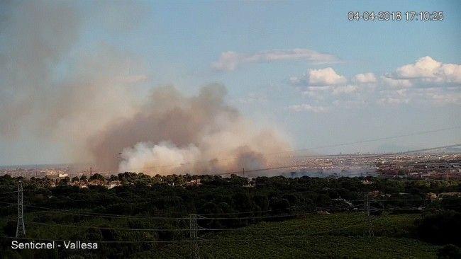 incendio forestal Manises