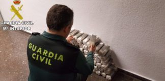Guardia Civil Puçol incauta 100 kilos de hachís