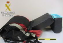 droga escondida parapente Guardia Civil