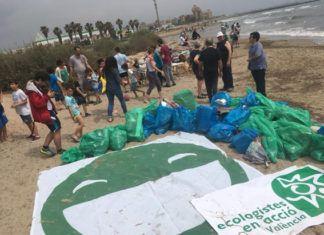 limpieza playa peixets ecologistas en acción