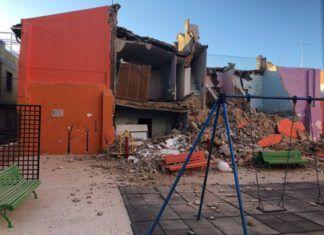 Torrent edificio abandonado caído