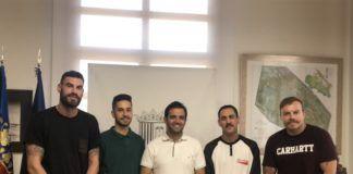 Alcalde con pregoneros fiestas 2018