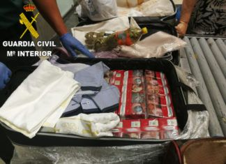 Guardia Civil cajetillas tabaco