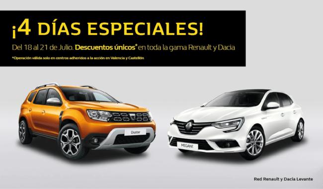 Precios irrepetibles solo del 18 al 21 de Julio en Renault