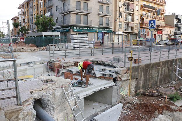 Puçol obras avenida Hostalets