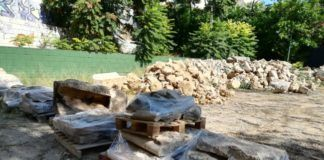 Burjassot almacena las partes derrumbadas del muro de Los Silos para su protección y clasificación