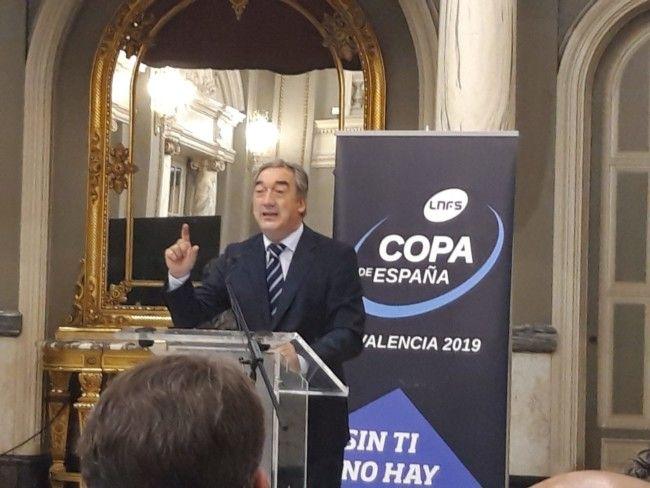 Javier Vallejo, presidente de la Liga Nacional de Fútbol Sala.