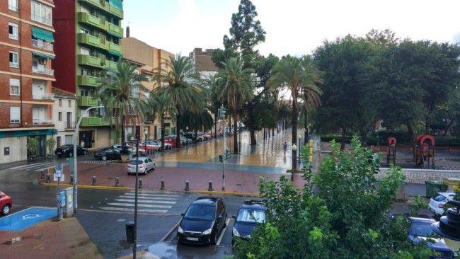 lluvia en Silla