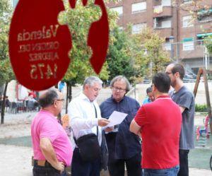 Miembros de la organización con el director gerente de la FDM, Jesús Casero