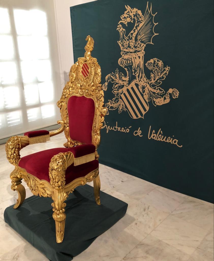 Cadira d'Or de Alfonso XIII la Diputació de València