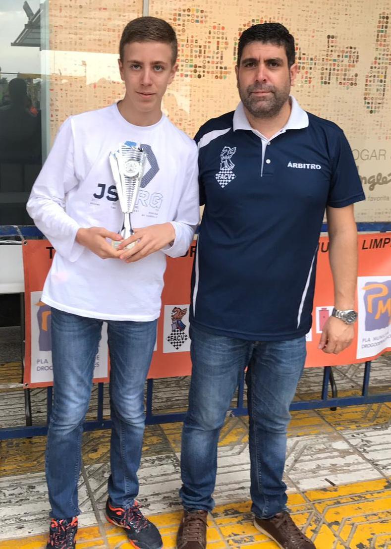 Sergio Sempron del CD Basilio fue el tercer clasificado de la Categoría A.
