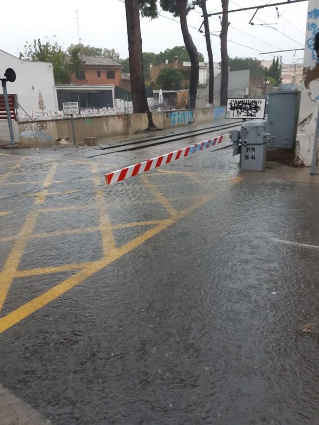 godella paso a nivel lluvia