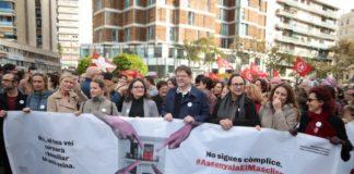 Valencia se manifiesta contra violencia contra las mujeres