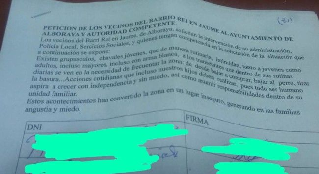 Alboraya firma vecinos barri REi En Jaume