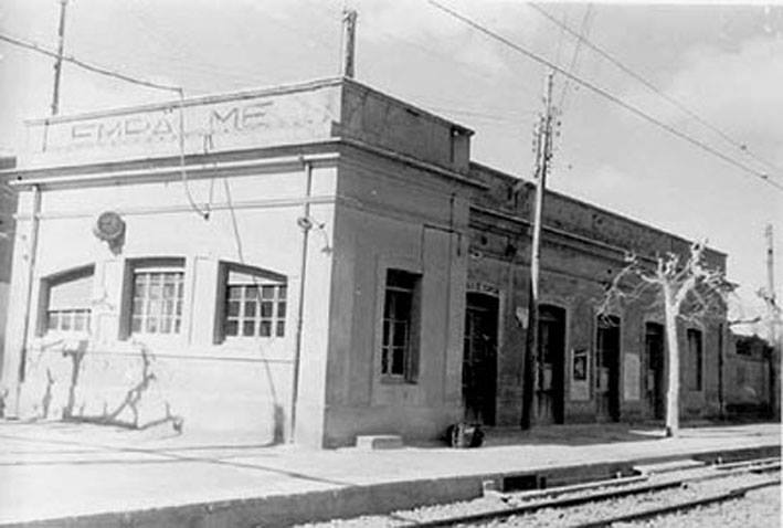 Antigua estación de Empalme antes de 1987.