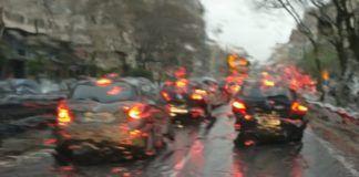 lluvia Valencia tráfico