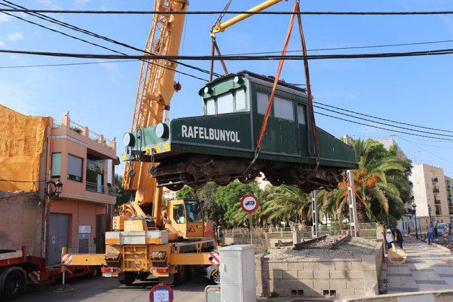 El trenet regresa a Rafelbunyol para el 125 aniversario de la inauguración de la estación