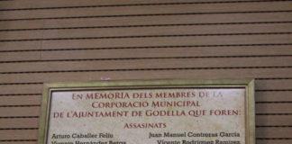 Godella rinde homenaje a los miembros de la corporación víctimas de la represión franquista