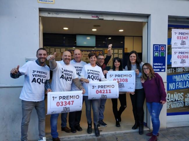 Loteria manises premios LOteria Navidad 2018
