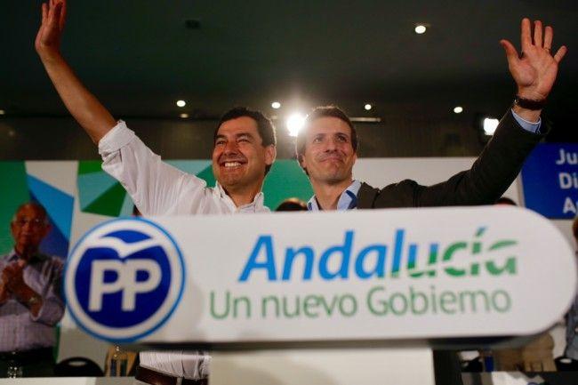 Juanma Moreno y Pablo Casado PP