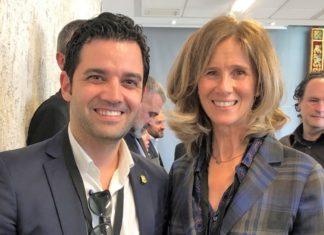 Sagredo junto a la ex ministra de Ciencia e Innovación, Cristina Garmendia